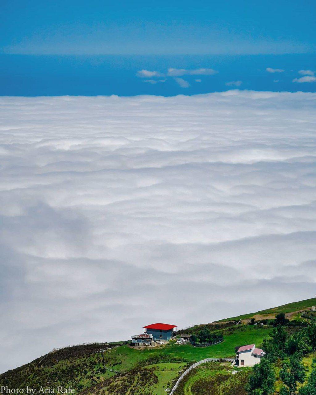دریای ابر در ارتفاعات فیلبند مازندران