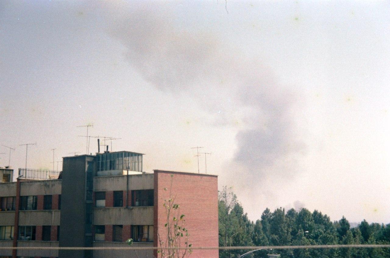 نخستین عکس ها از حمله نیروهای عراقی به فرودگاه مهرآباد