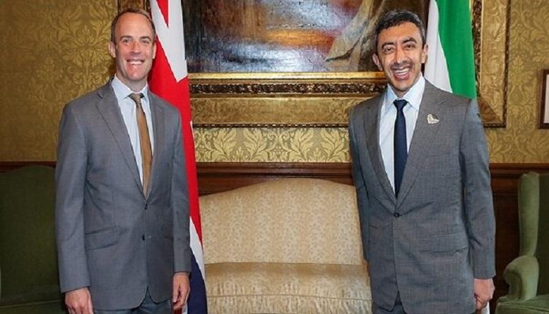 وزرای خارجه امارات و انگلیس دیدار کردند