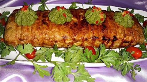 دستورپخت کباب رول مرغ با سس پستو