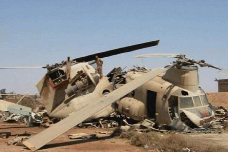 ۱۵ کشته در سقوط بالگرد نیروی ارتش افغانستان
