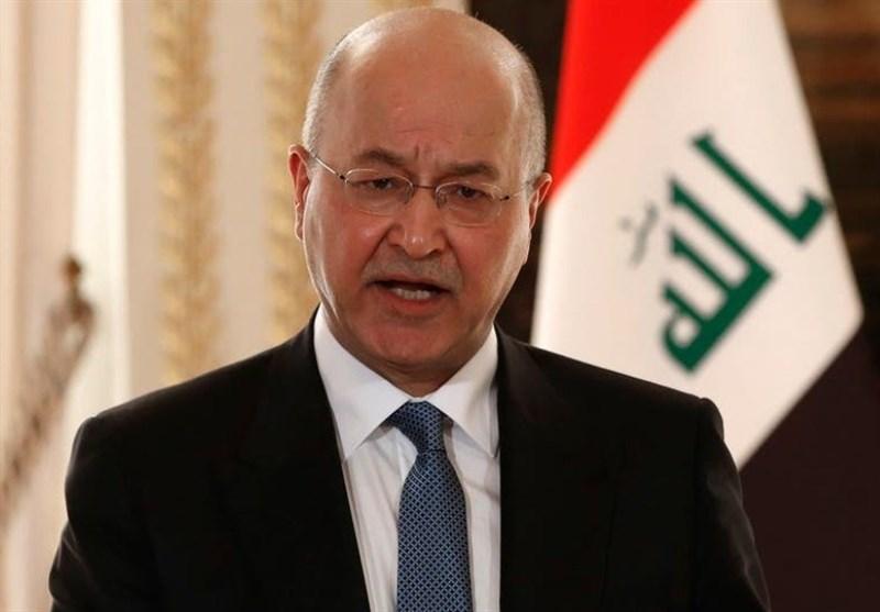 تاکید برهم صالح بر لزوم حمایت از حشد شعبی
