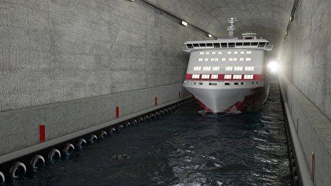 تونل مخصوص عبور قایق در نروژ