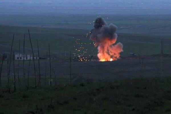 اصابت ۲ راکت دیگر طرفهای درگیر قرهباغ به ایران