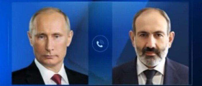 تماس تلفنی پوتین با نخستوزیر ارمنستان