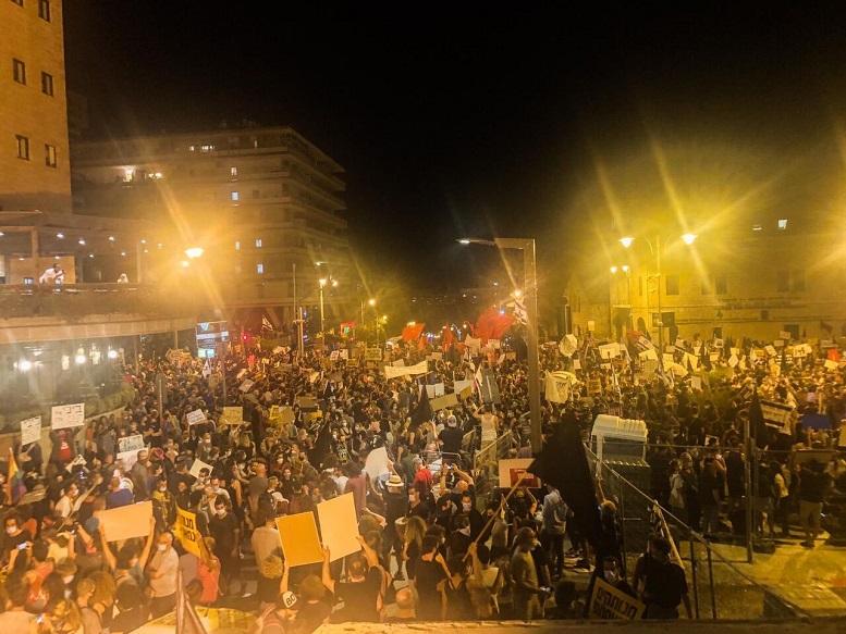تظاهرات علیه نتانیاهو ادامه دارد