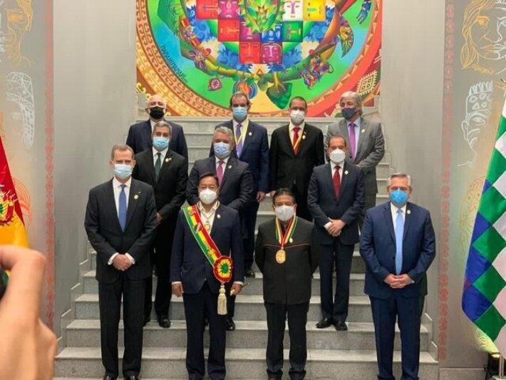 عکس مقامات خارجی در تحلیف رییسجمهور بولیوی