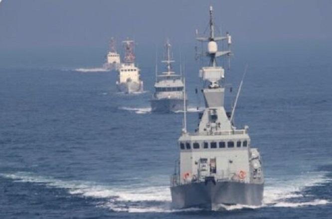 رزمایش مشترک دریایی کویت و آمریکا در خلیج فارس