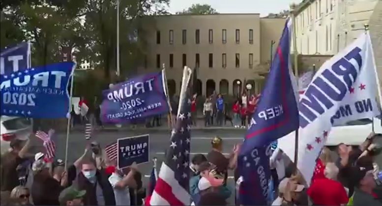 تجمع اعتراض آمیز هواداران ترامپ در آتلانتا