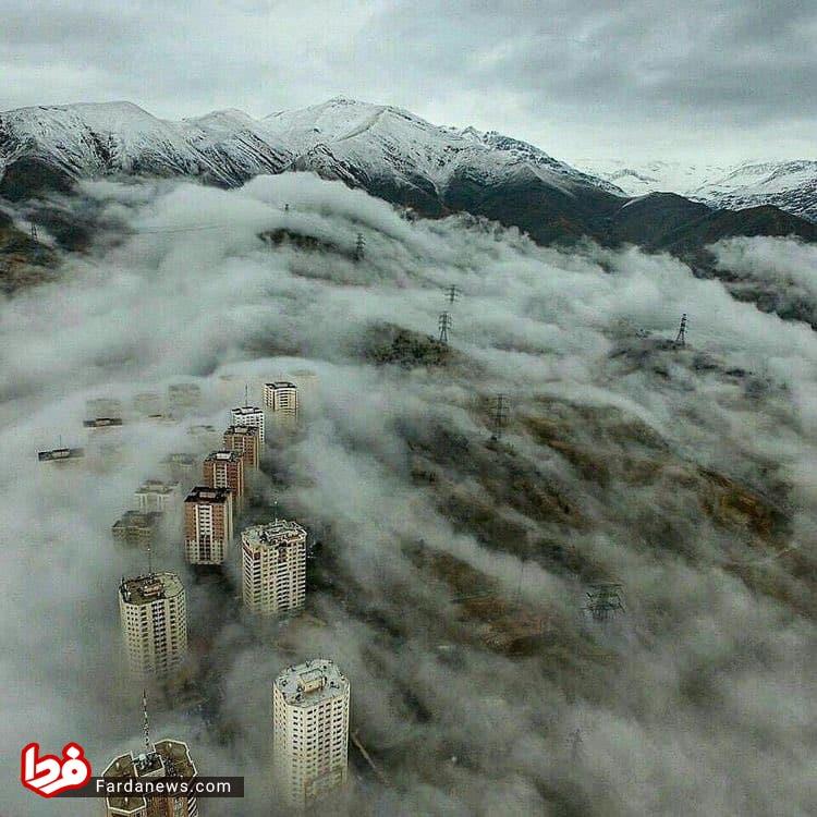 عکس عجیب از تهران
