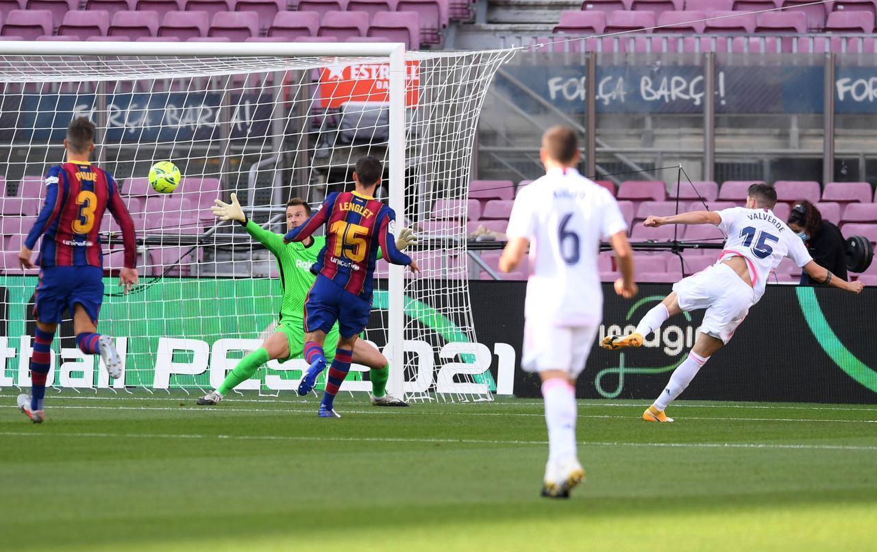 بارسلونا یک - رئال مادرید ۳ | زیدان در فتح نوکمپ رکورد زد / زوج کومان و مسی الکلاسیکو اول را باخت
