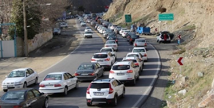 ترافیک نیمه سنگین در جاده کرج-چالوس