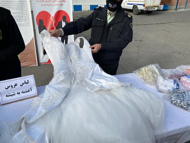 کشف لباس عروس شیشه ای در تهران