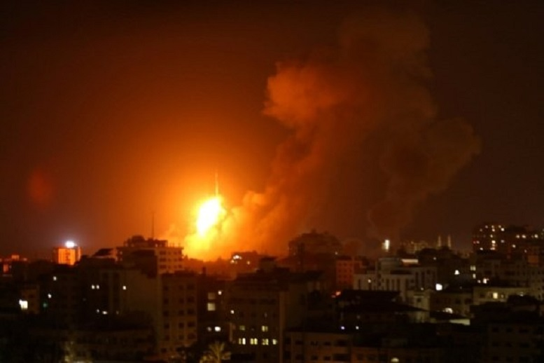 حمله هوایی بالگردهای رژیم صهیونیستی به نوار غزه