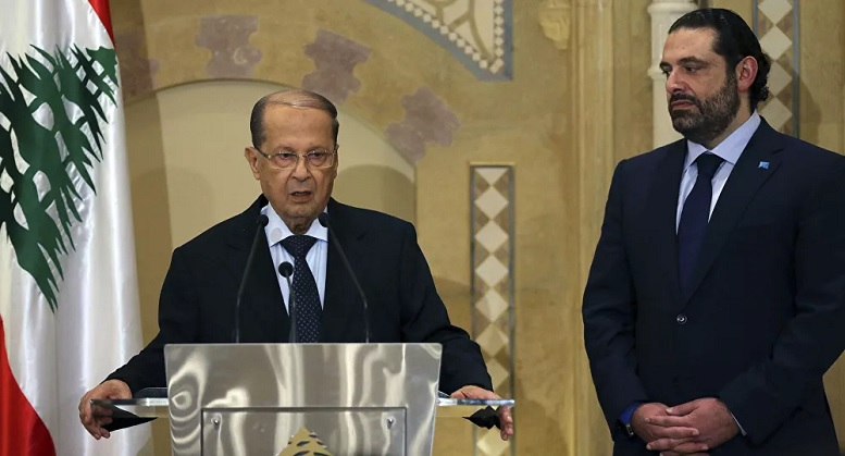 مخالفت رئیس جمهور لبنان با کابینه حریری