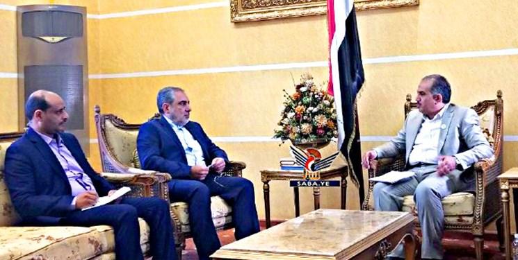 دیدار سفیر ایران با معاون وزیر امور عام المنفعه یمن