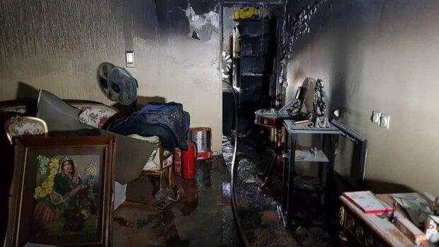 آتش سوزی در یکی از برجهای خیابان مهستان