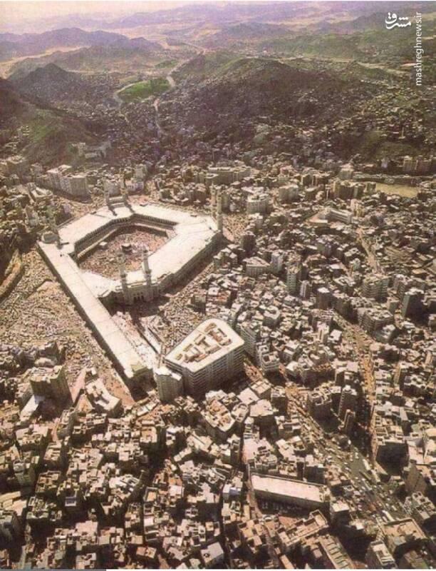 تصویری جالب از مسجدالحرام در نیم قرن پیش
