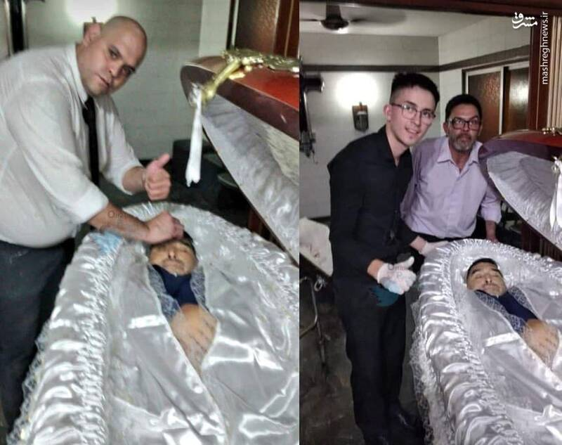 کارمندی که با جسد مارادونا سلفی گرفت، تیرباران شد!