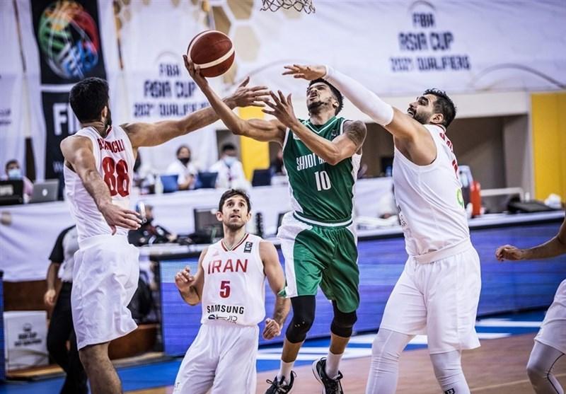 تیم ملی بسکتبال ایران بدون ۲ستاره اصلی، عربستان را درهم کوبید / یخچالی درخشید