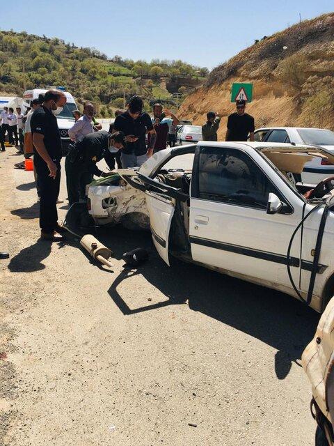۹ کشته و مصدوم درپی واژگونی خودرو درمحور یاسوج