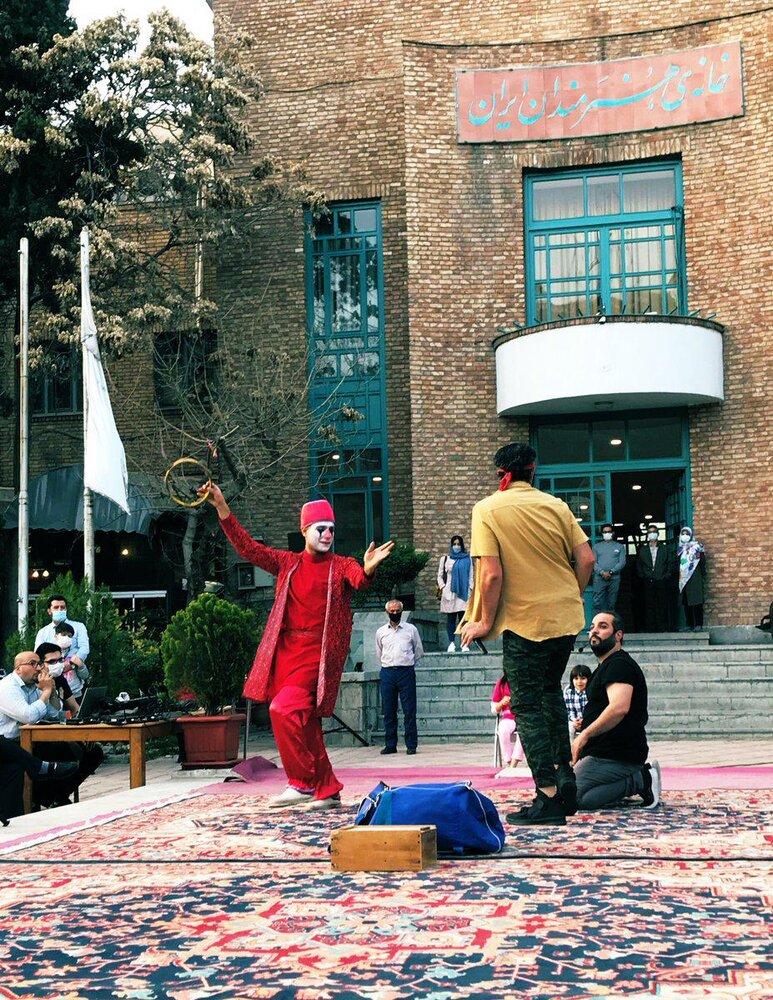 حاجی فیروز سفید در خانه هنرمندان