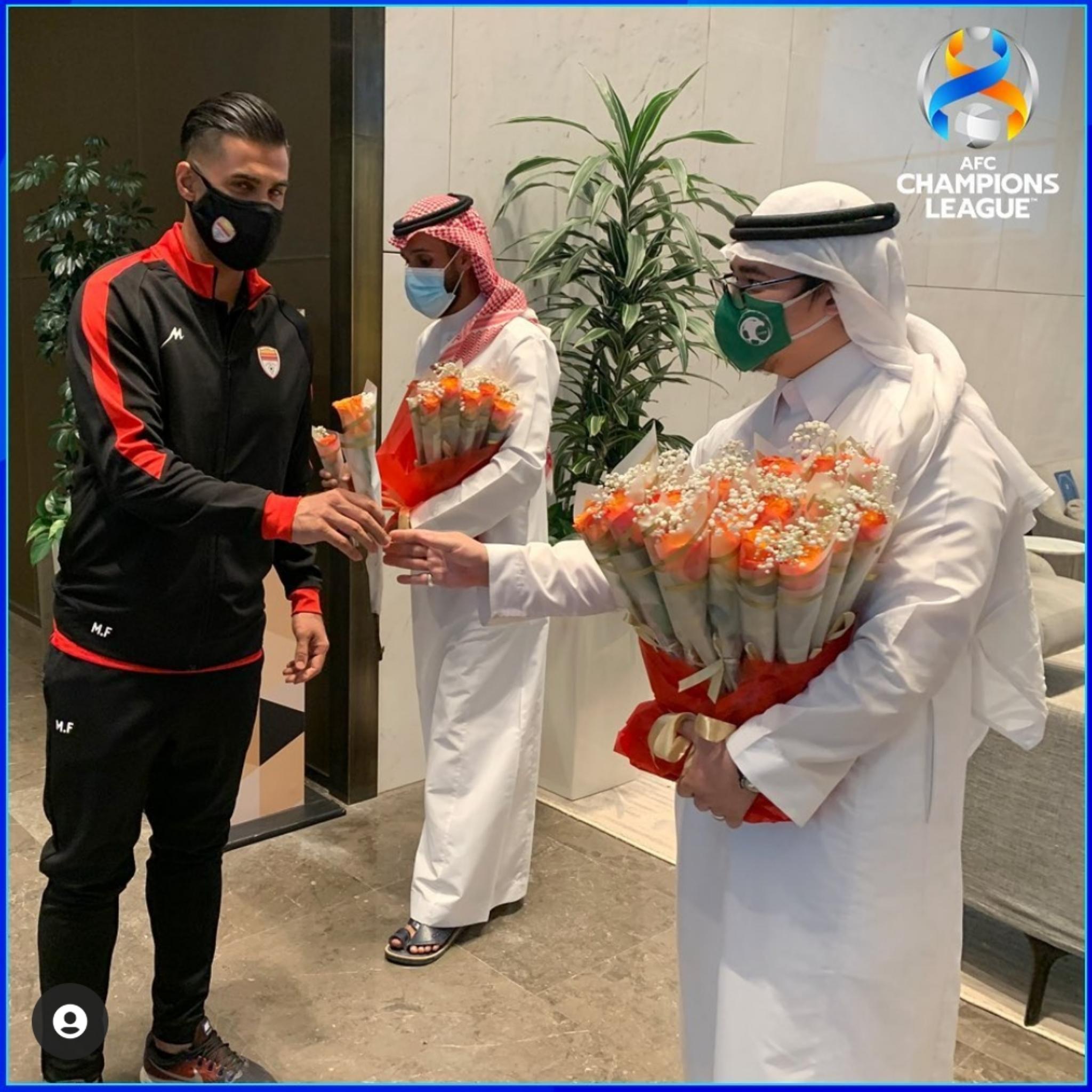 استقبال گرم سعودی ها از تیم ایرانی در فرودگاه