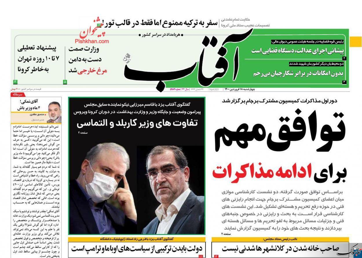 آقای نمکی! ۴ ماه وزیر باش/عایدی ایران از نشست وین چیست؟ /همتی: از بانک مرکزی استقراض کردند /دولت: استقراض نکردیم (!) 