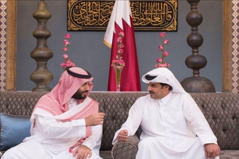 نخستین تماس تلفنی امیر قطر با ولیعهد سعودی