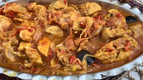 طرز تهیه خورش مرغ آذربایجانی و کته