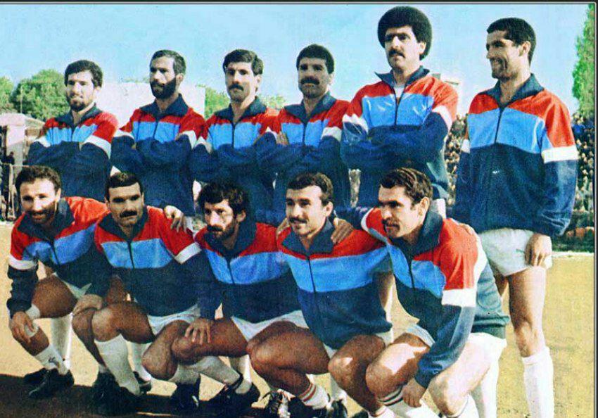 عکس خاطرهانگیز از شادروان دست نشان در تیم مازندران