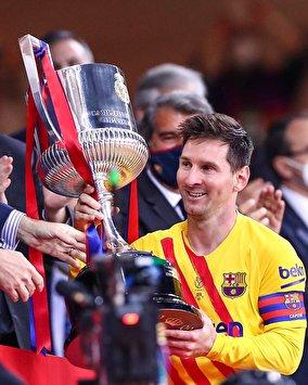 جشن قهرمانی دیشب بارسلونا و مسی در کوپا دل ری