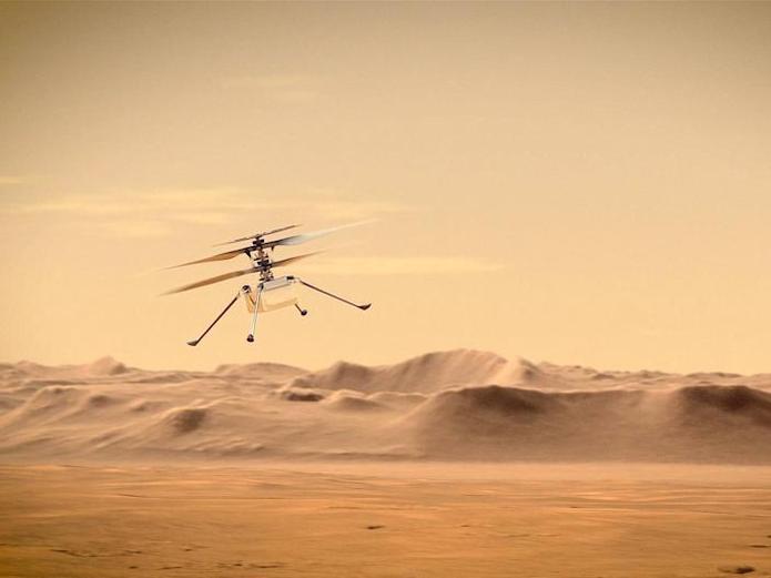 پرواز اولین پرنده در آسمان مریخ را ببینید+فیلم