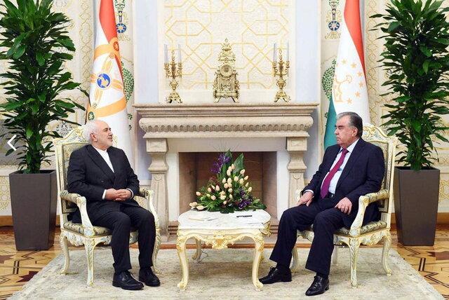 ظریف با رئیسجمهور تاجیکستان دیدار کرد