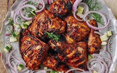 طرز تهیه مرغ تند تنوری