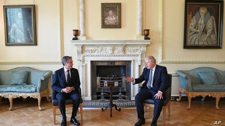 دیدار وزیرخارجه آمریکا با نخست وزیر انگلیس