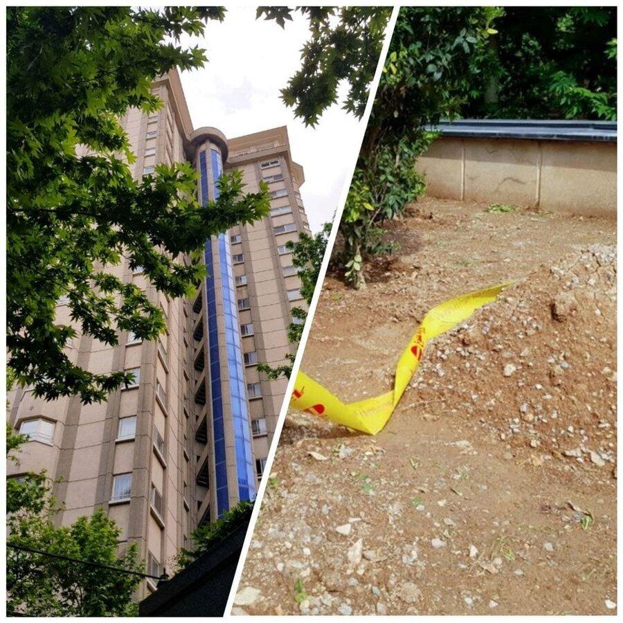 محل سقوط و کشف جسد دبیر اول سفارت سوئیس