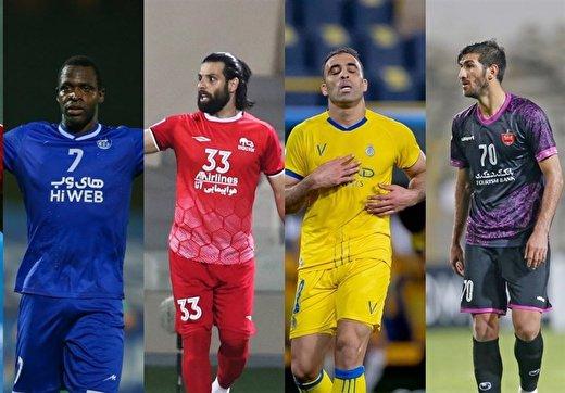 ۳ مهاجم تیمهای ایرانی رقیب حمدالله و اولونگا