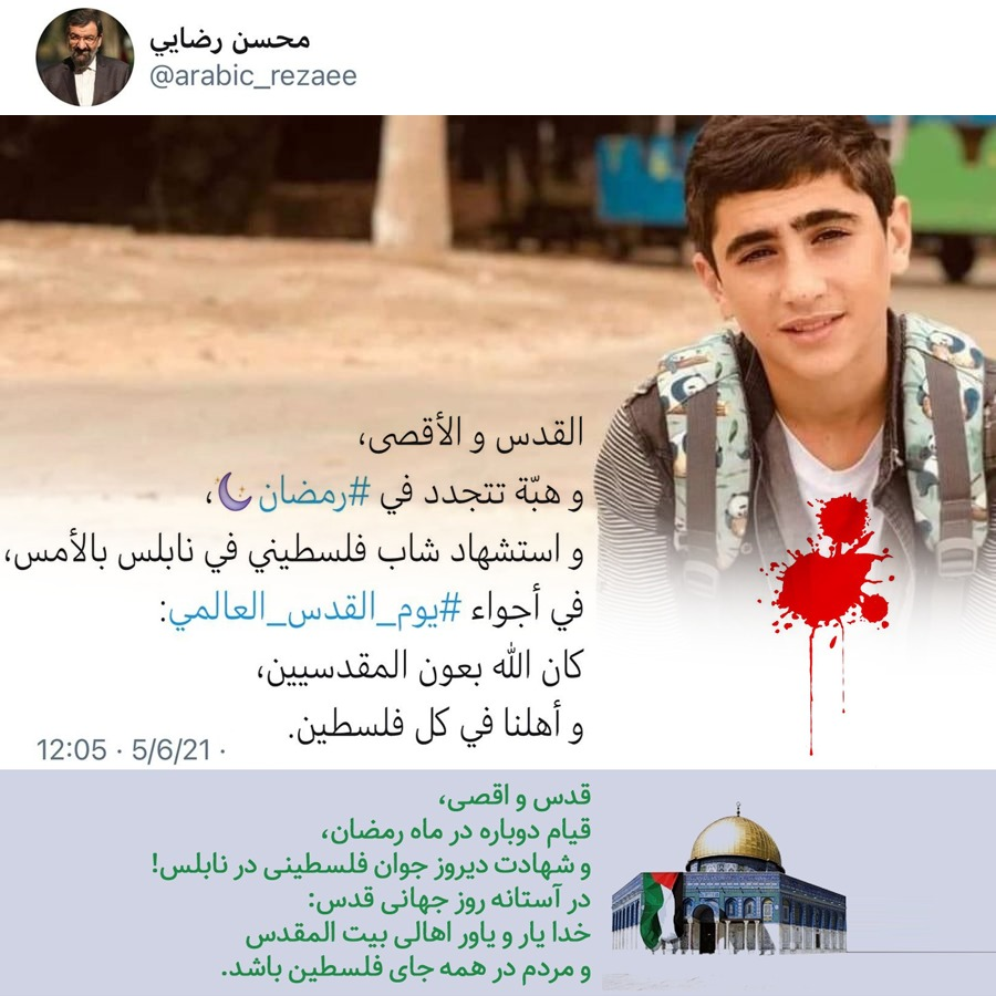 استقبال جهان عرب از موضع رضايى درباره فلسطين
