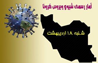 آخرین آمار کرونا در ایران تا هجدهم اردیبهشت/ فوت ۲۸۳ بیمار در شبانه روز اخیر