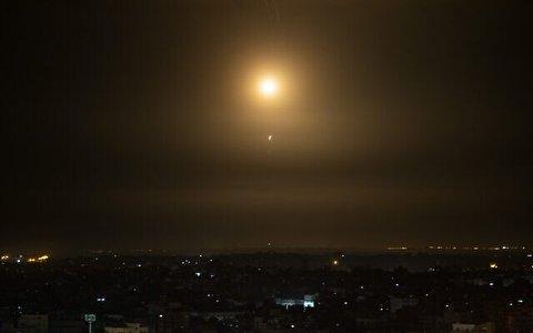 لحظه برخورد موشک به نزدیکی دیمونا