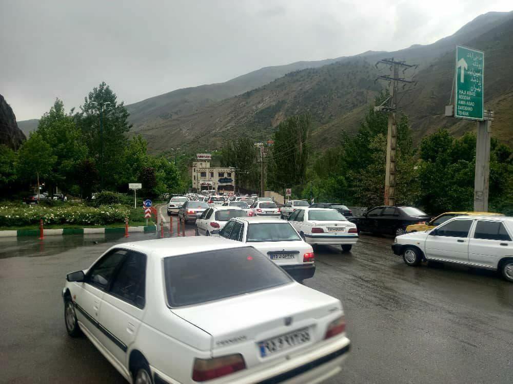 ترافیک سنگین در منطقه لواسانات در شرایط کرونایی