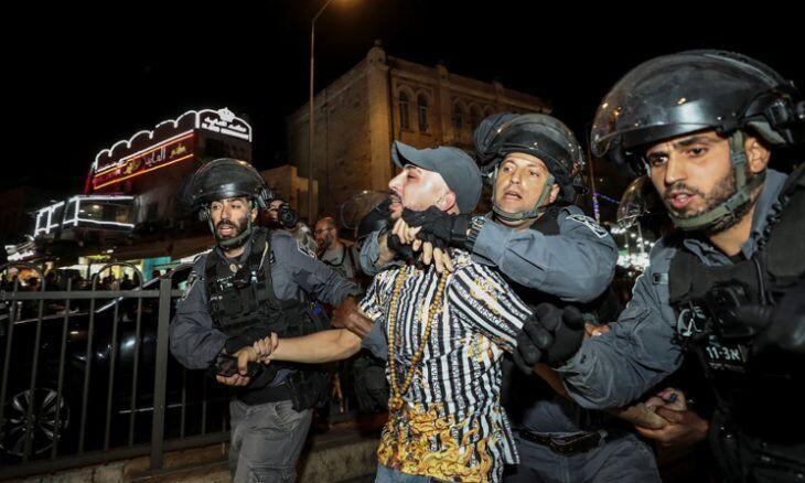 ادامهدرگیری صهیونیستها و فلسطینیان در مسجدالاقصی