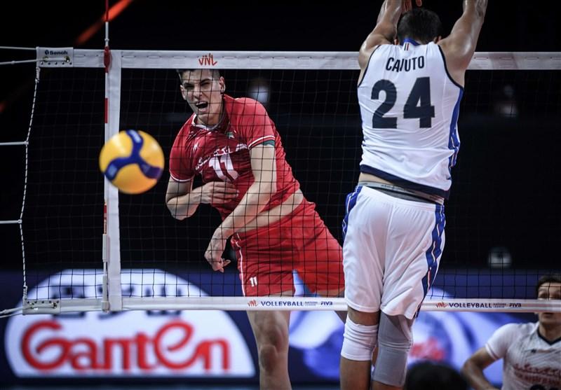 لیگ ملتهای والیبال ۲۰۲۱: ایتالیای میزبان سومین قربانی بلندپروازی تیم ایران