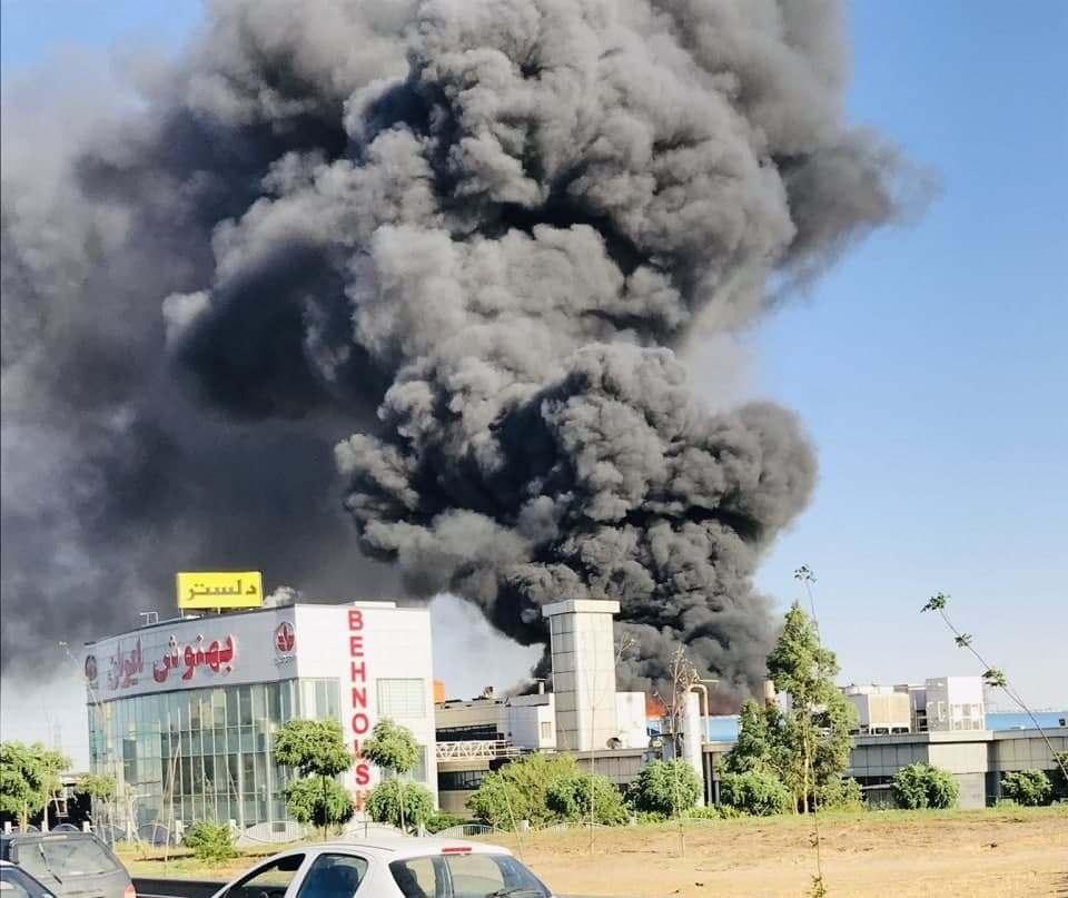 مهار آتشسوزی کارخانه بهنوش
