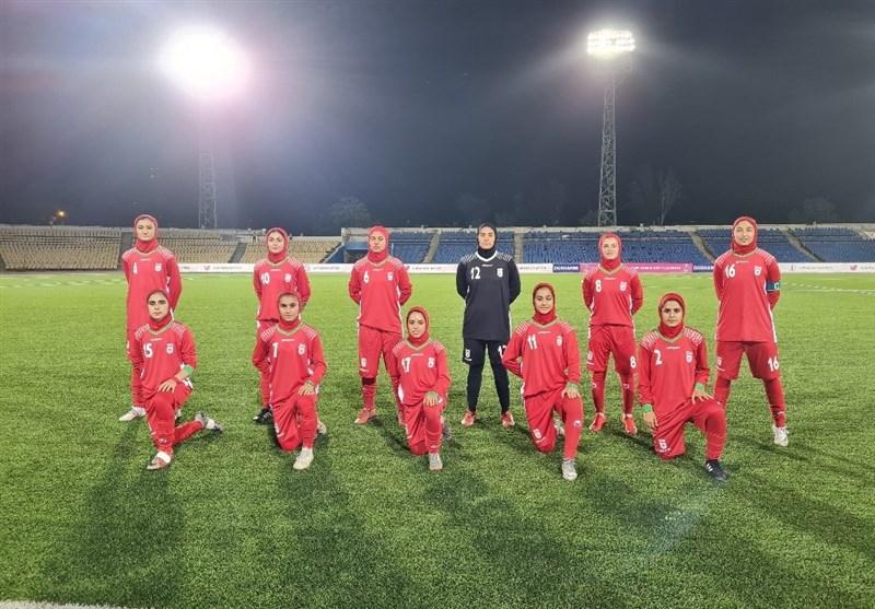 برتری شیرین تیم دختران فوتبال ایران (IRAN) مقابل تاجیکها