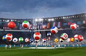 جشن افتتاحیه یورو۲۰۲۰ در ورزشگاه المپیکو رم