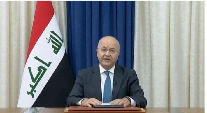 برهم صالح: کشور با همبستگی از تروریسم پاک شد