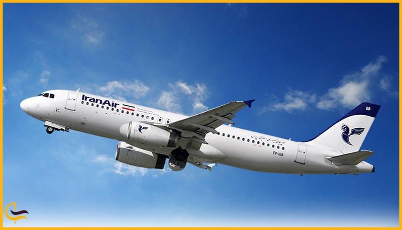 پرترددترین مسیرهای پروازی تهران، هواپیمای ایران ایر در آسمان