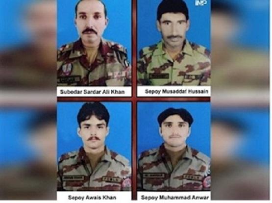 کشته شدن ۴ مرزبان پاکستانی در انفجار مین